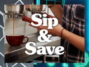 Sip & Save, STAY ONE NIGHT & RECEIVE 10% OFF (PROMO CODE: STAY1) STAY TWO NIGHTS & RECEIVE 20% OFF (PROMO CODE: STAY2) PLUS ENJOY A $10 GIFT CARD TO ENJOY AT ELYSIAN COFFEE Offer valid until March 31st