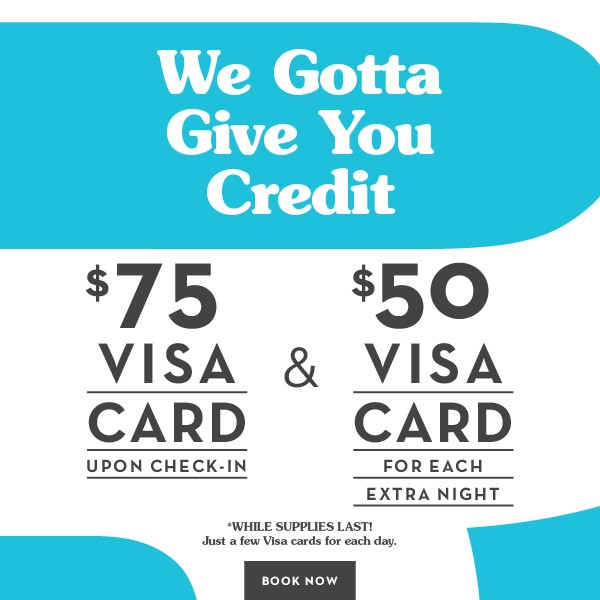 The Burrard Hotel, Visa Card Promotion
